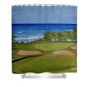Hole 17 - Wailua Golf Course On Kauai Shower Curtain