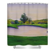 Hole 2 Nuttings Creek Shower Curtain