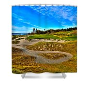 Hole #3 At Chambers Bay Shower Curtain