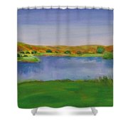 Hole 3 Fade Away Shower Curtain