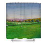 Hole 7 Of Mice And Men Shower Curtain