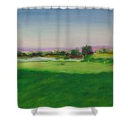 Hole 8 Mission Green Shower Curtain