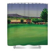 Hole 9 Entrapment Shower Curtain