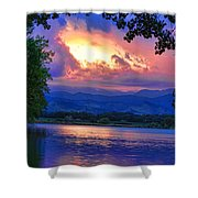 Hole In The Sky Sunset Shower Curtain
