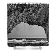 Hole In The Wall Beach Shower Curtain