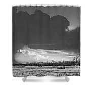 Holes In The Sky Shower Curtain