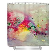 Holi-colorbubbles Abstract Shower Curtain