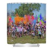 Holi Festival Shower Curtain