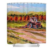 Holicong Road Farm Shower Curtain