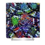 Holiday Abstract  Shower Curtain
