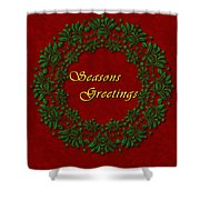 Holiday Card Shower Curtain