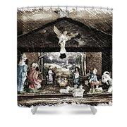 Holiday Christmas Manger Pa 01 Shower Curtain