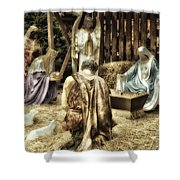 Holiday Christmas Manger Pa 02 Shower Curtain