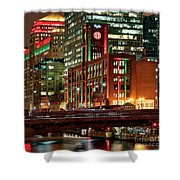 Holiday Colors Along Chicago River Shower Curtain