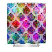 Holiday Colors - Christmas Pattern Shower Curtain