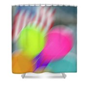 Holiday Decor Blur Shower Curtain
