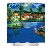 Holiday Delivery At Whisper Lake  Shower Curtain