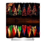 Holiday Evergreen Reflections Shower Curtain