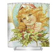 Holiday Girl Shower Curtain