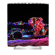Holiday Harvester #9382 Shower Curtain