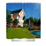 Holiday Home Shower Curtain