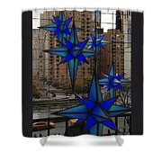 Holiday Lights At Trump Mall In New York City Shower Curtain