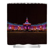 Holiday Lights Of The Denver City And County Building Shower Curtain