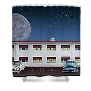 Holiday Motel Shower Curtain