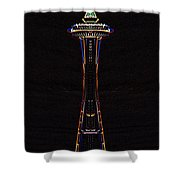 Holiday Needle 3 Shower Curtain