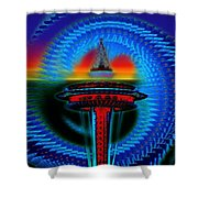 Holiday Needle Illusion Shower Curtain