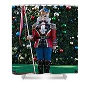 Holiday Nutcracker Shower Curtain