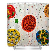 Holiday On Air Shower Curtain