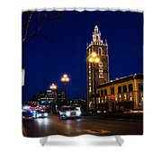 Holiday On The Plaza Shower Curtain