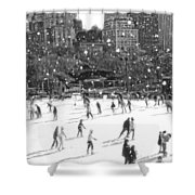Holiday Skaters Shower Curtain