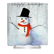 Holiday Snowman Shower Curtain
