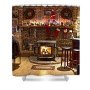 Holiday Spirit Shower Curtain