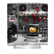 Holiday Spirit Magic Dream Shower Curtain