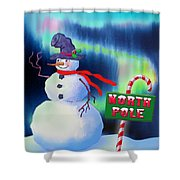 Holiday Top Hat Shower Curtain
