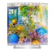 Holiday Vignette 2 Shower Curtain