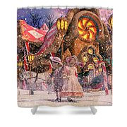 Holiday Village Shower Curtain