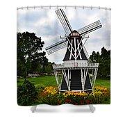 Holland Grey Windmill  Shower Curtain