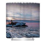 Hollow Rock Morning Shower Curtain