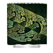 Hollow World W Forest Moon Shower Curtain