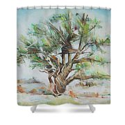 Holly Tree Shower Curtain