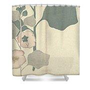 Hollyhock, Nakamura Hochu, 1826 Shower Curtain