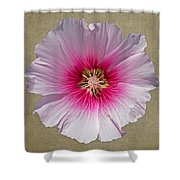 Hollyhock On Linen 2 Shower Curtain