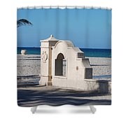 Hollywood Beach Wall In Color Shower Curtain