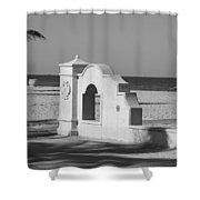 Hollywood Beach Wall Shower Curtain