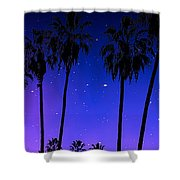 Hollywood Palm Tree Abstract Shower Curtain