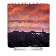 Hollywood Sign At Sunset Shower Curtain